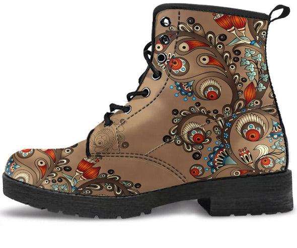 Brown Henna Handcrafted Boots