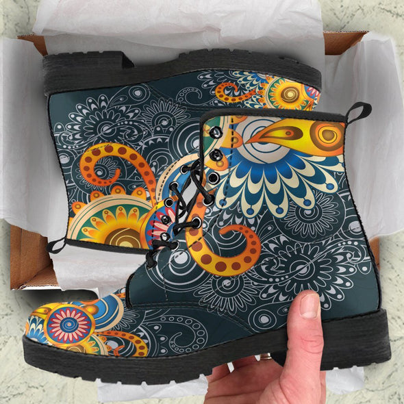 Henna Flowers Handcrafted Boots