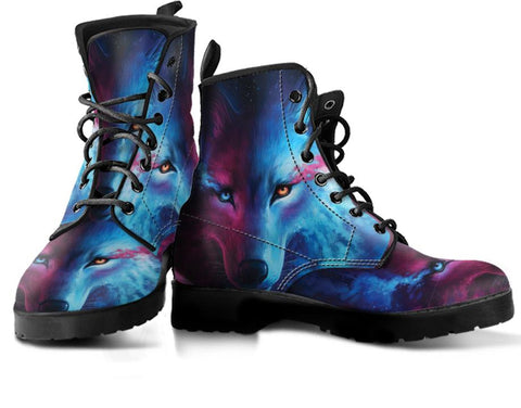 Image of Galaxy Wolf Handcrafted Boots