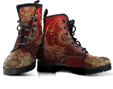 Red Sun Moon Handcrafted Boots