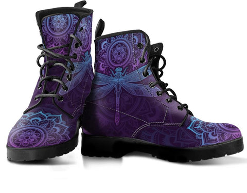 Purple Dragonfly Handcrafted Boots