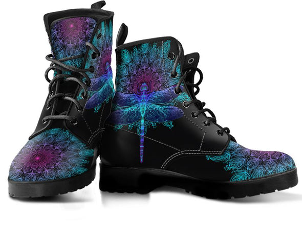 Mandala Dragonfly Handcrafted Boots
