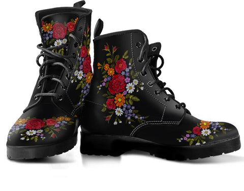 Image of Embroidery Flower Handcrafted Boots