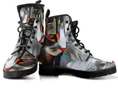 Abstract Cat Handcrafted Boots