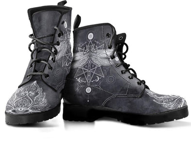 Dragonfly Lotus Handcrafted Boots