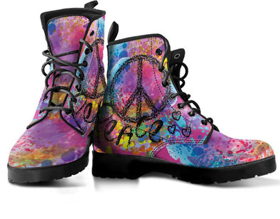 Colorful Peace Handcrafted Boots