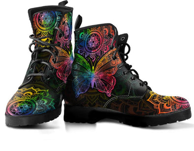 Chakra Color Butterfly Handcrafted Boots