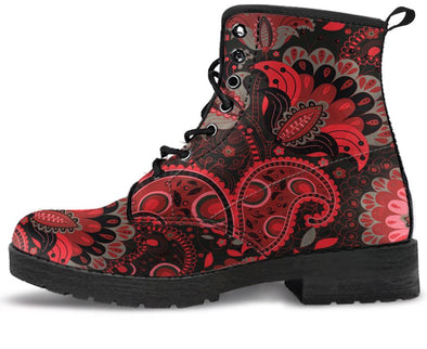 Red Black Paisley