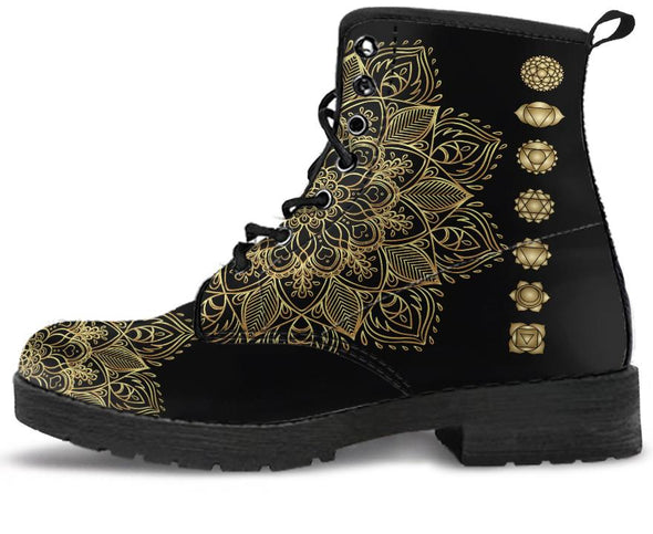 Golden Chakra Handcrafted Boots