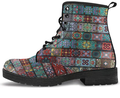 Bohemian Pattern Handcrafted Boots