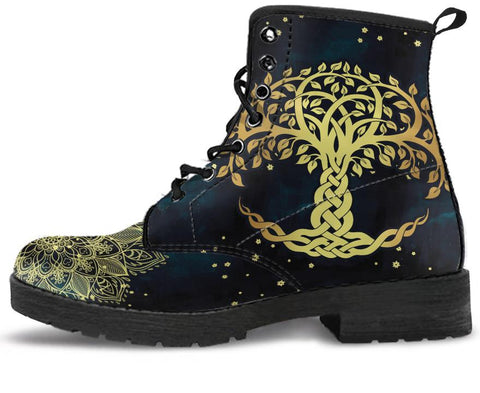 Image of Golden Tree Of Life Handcrafted Boots