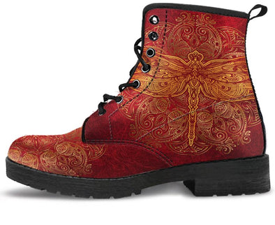 Red Dragonfly Handcrafted Boots