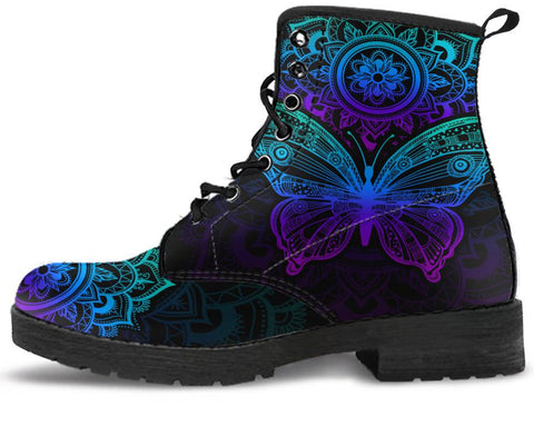 Mandala Butterfly Handcrafted Boots