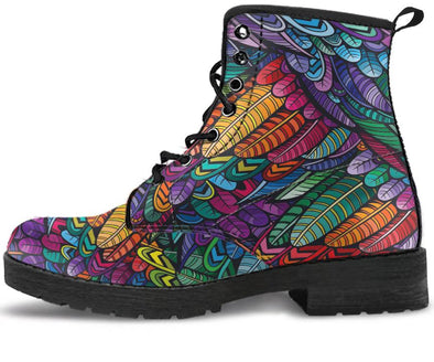 Boho Feather Handcrafted Boots