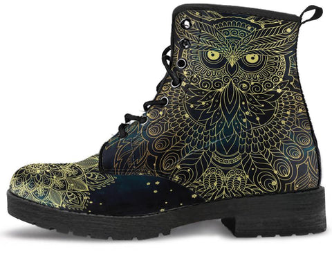 Golden Owl Handcrafted Boots