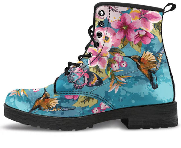 Birds and Flowers Handcrafted Boots