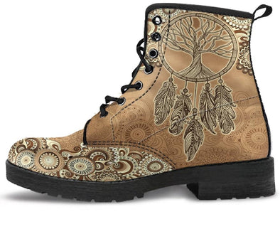 Tree of Life Dream Catcher Handcrafted Boots