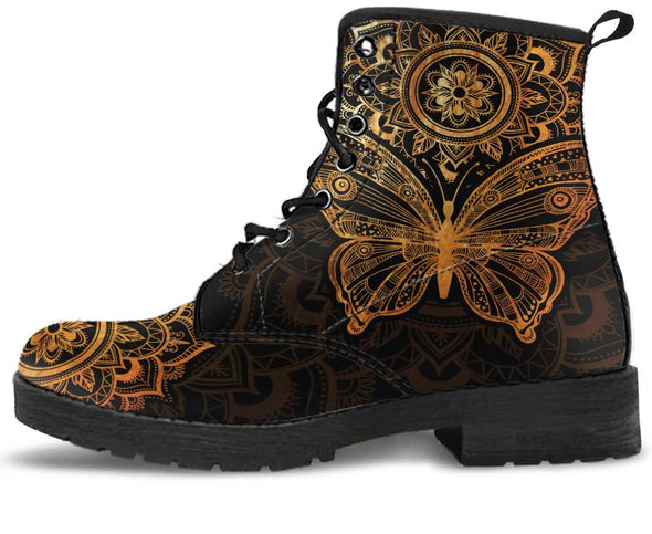 Gold Butterfly Handcrafted Boots