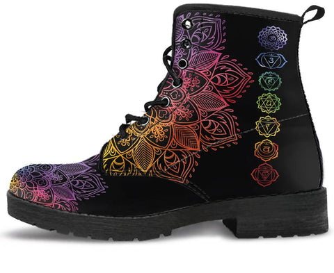 Image of Colorful Chakra Handcrafted Boots