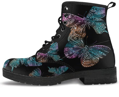 Boho Butterfly Handcrafted Boots