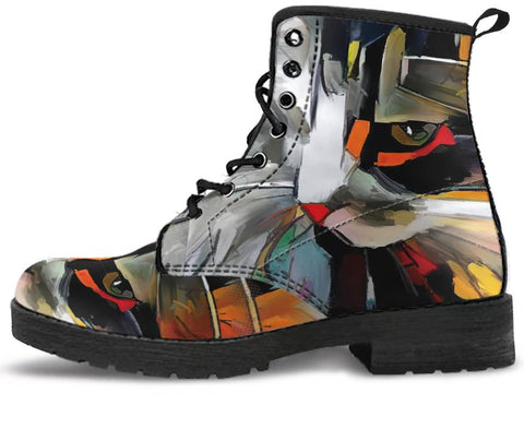 Image of Abstract Cat Handcrafted Boots
