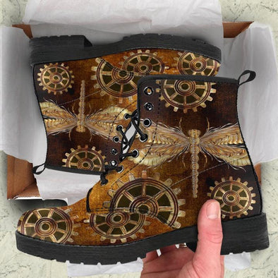 SIZE 7 WOMENS - STEAMPUNK DRAGONFLY BOOTS - CLEARANCE