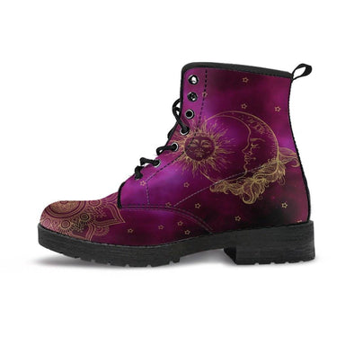 Purple Sun & Moon Handcrafted Boots