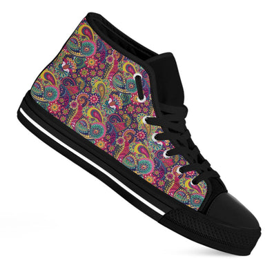 Henna Paisley Handcrafted High Tops