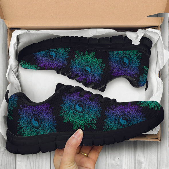 Yin Yang Lotus Handcrafted Sneakers