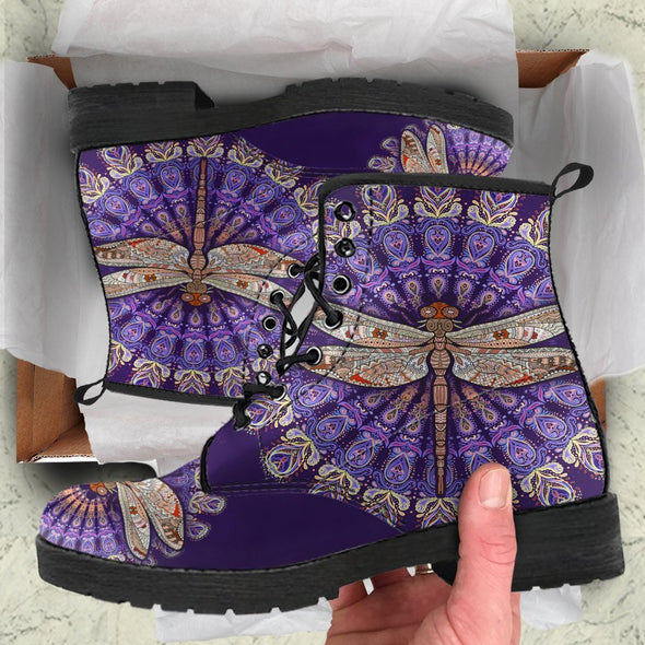 Dragonfly Mandala Handcrafted Boots
