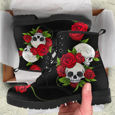Skull & Roses Handcrafted Boots