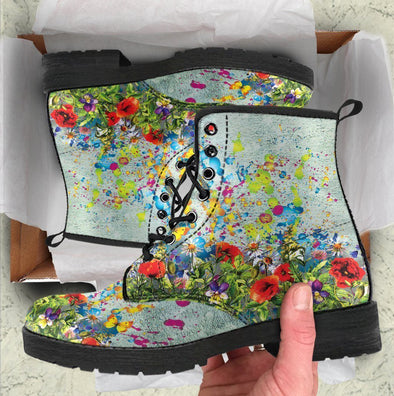 Colorful Flower Handcrafted Boots