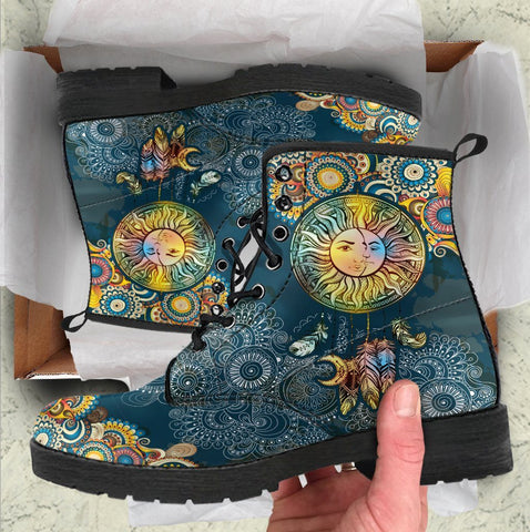 Paisley Sun And Moon Handcrafted Boots