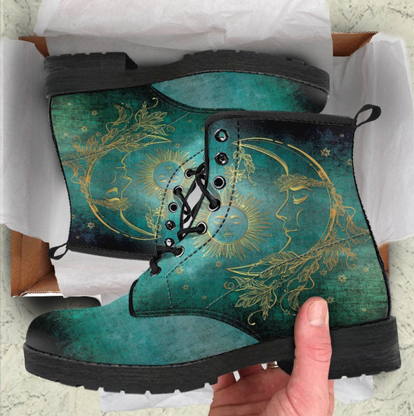 Sun Moon Handcrafted Boots