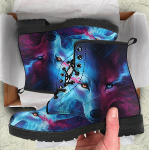 Galaxy Wolf Handcrafted Boots