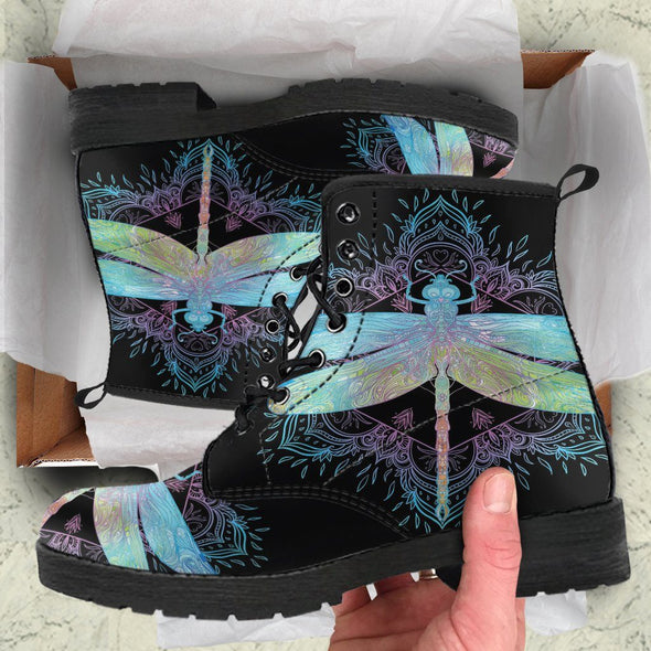 Dragonfly Mandala 1 Handcrafted Boots