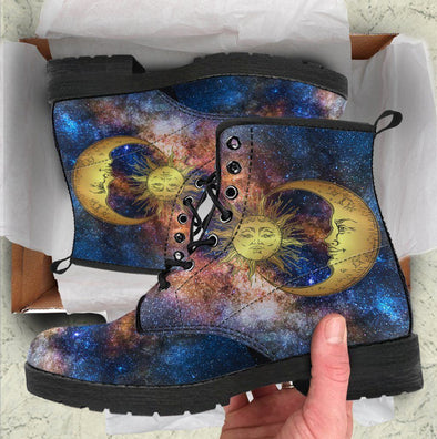 Galxay Sun and Moon Handcrafted Boots