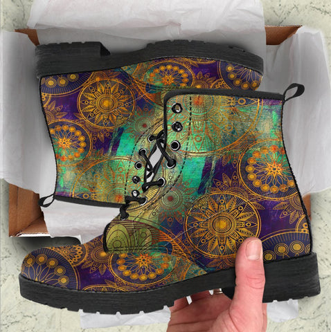 Image of Gold Bohemian Handcrafted Boots