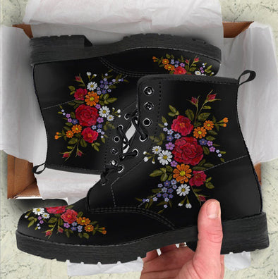Embroidery Flower Handcrafted Boots