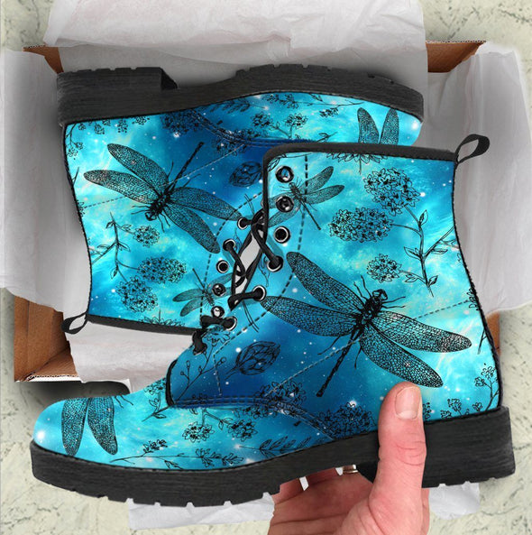 Galaxy Dragonfly Handcrafted Boots