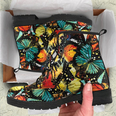 Abstract Butterfly Handcrafted Boots