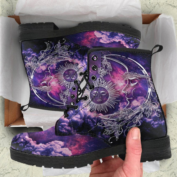 Galaxy Sun Moon 4 Handcrafted Boots