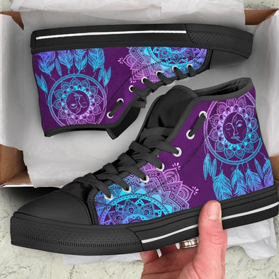 Sun & Moon Dream Catcher High Tops