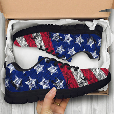 American Flag Handcrafted Sneakers