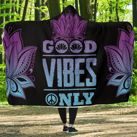 Image of Good Vibe Only Hoodie Blanket