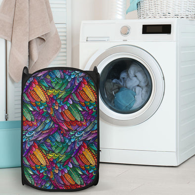 Boho feather Laundry Hampers