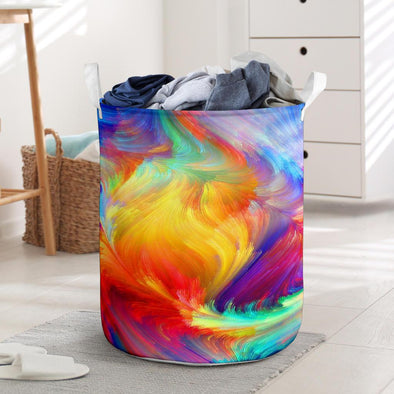 Colorful Pattern Tree Laundry Hampers