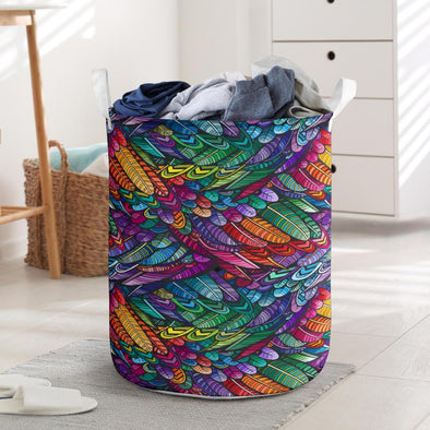 Boho Feathers Laundry Basket