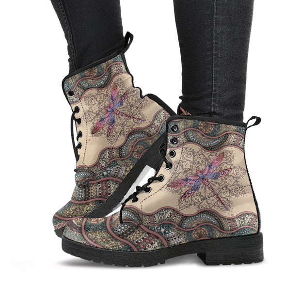 Dragonfly Paisley Boots