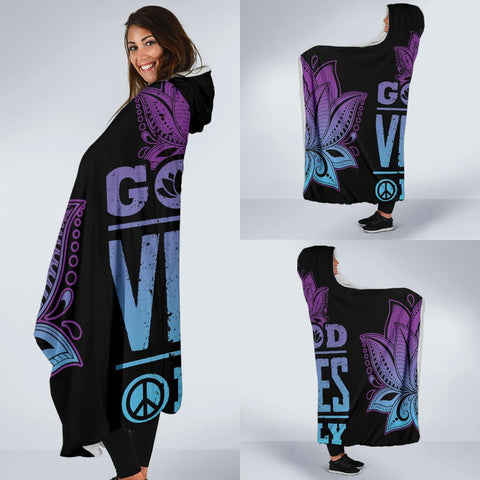 Good Vibe Only Hoodie Blanket